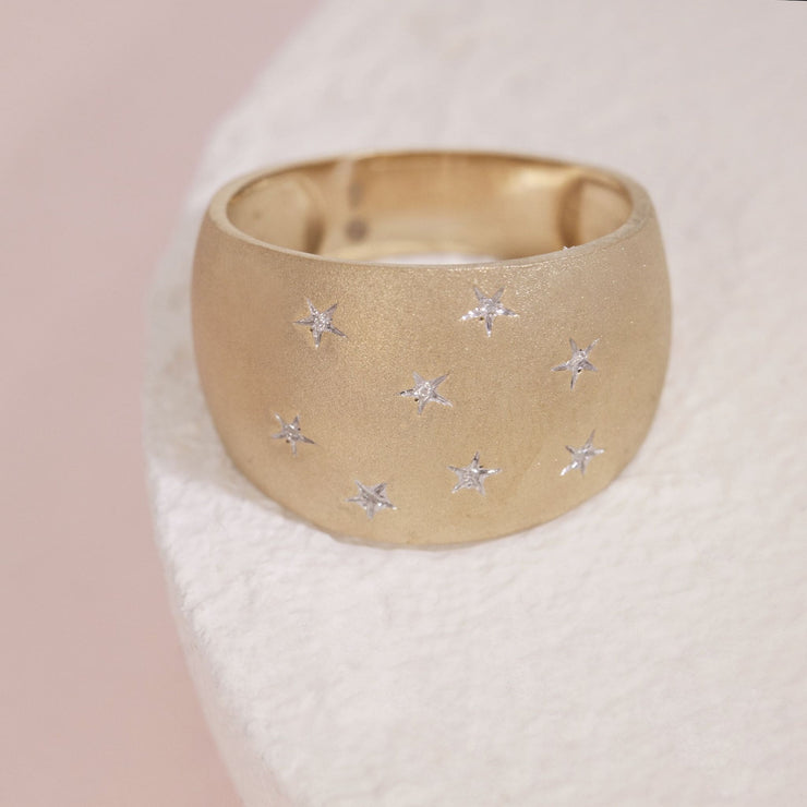 Sleeping Under The Stars Gold and Diamond Ring