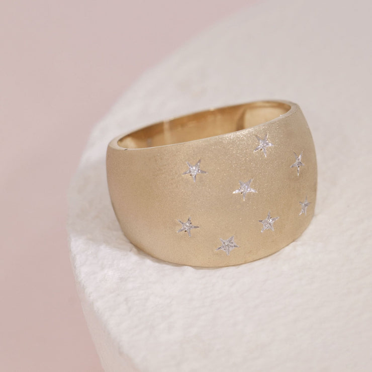 Sleeping Under The Stars Gold and Diamond Ring, alt view