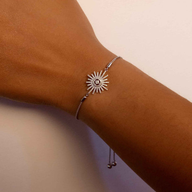 Wearing Starburst Diamond Bracelet