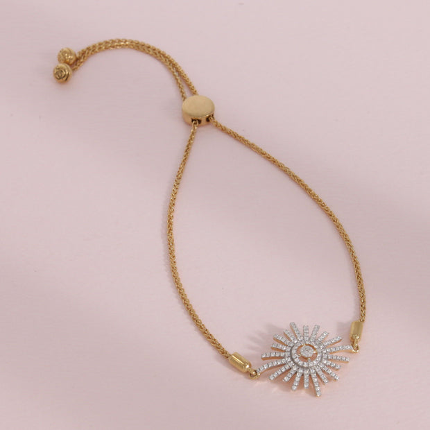 Starburst Gold and Diamond Bracelet