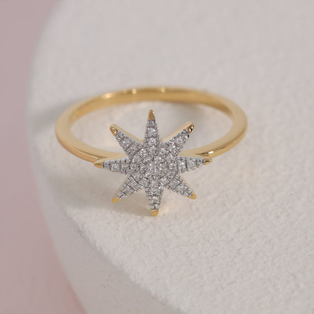 Superstar Gold and Diamond Ring
