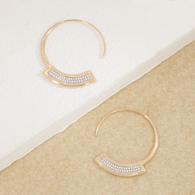 Take A Breath Gold Hoop Earrings