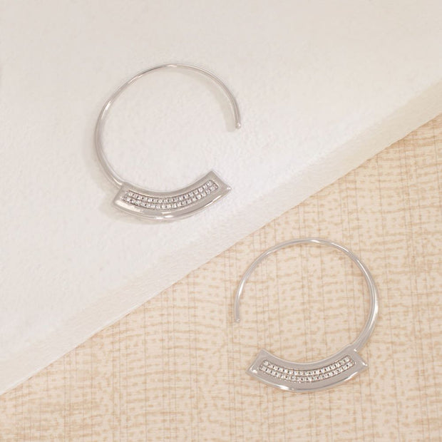 Take A Breath Sterling Silver Hoop Earrings