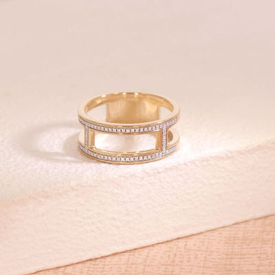 Take It Offline Gold and Diamond Ring