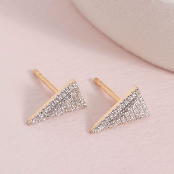 Take The Plunge Gold and Diamond Earrings
