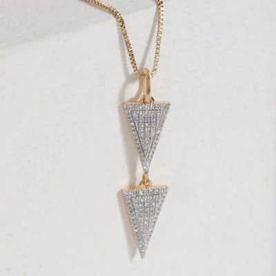 Take The Plunge Gold and Diamond Necklace