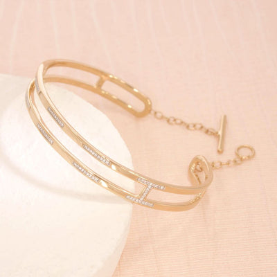 The Ties That Bind Gold and Diamond Bracelet