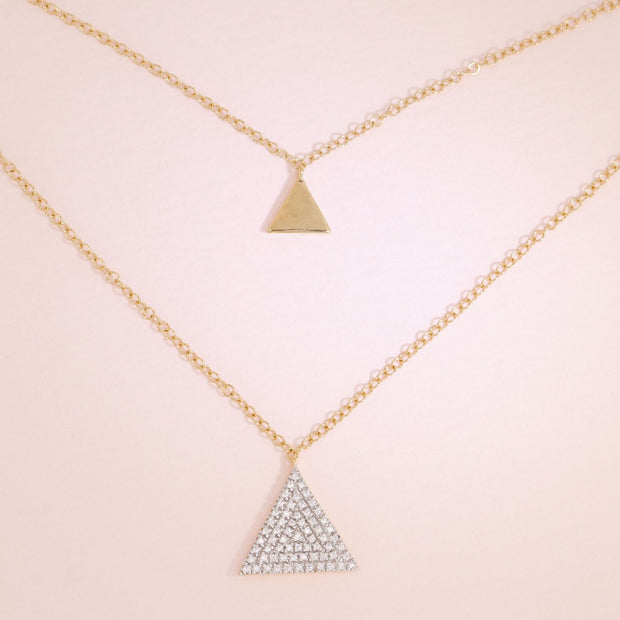 Tri It Out Gold Diamond Necklace