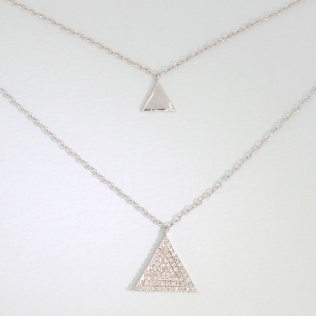 Tri It Out Sterling Silver Diamond Necklace