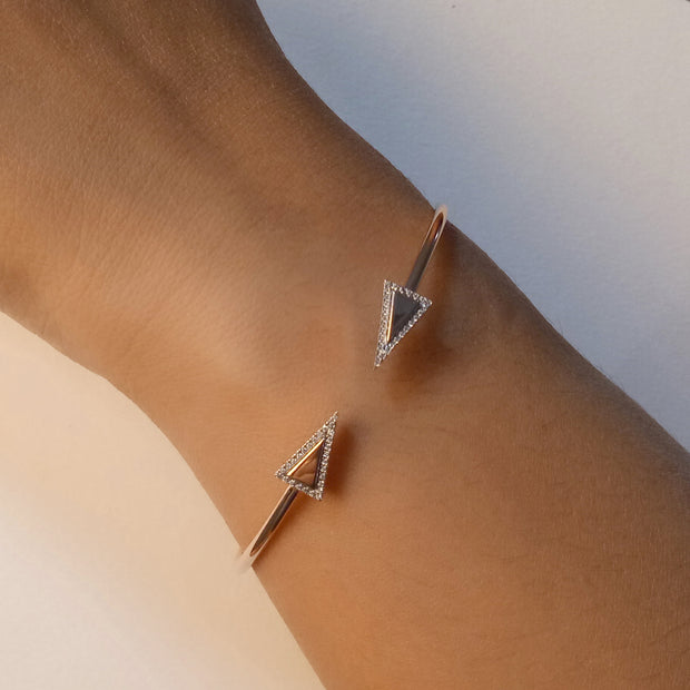 Wearing Triangle Diamond Flexi Bracelet