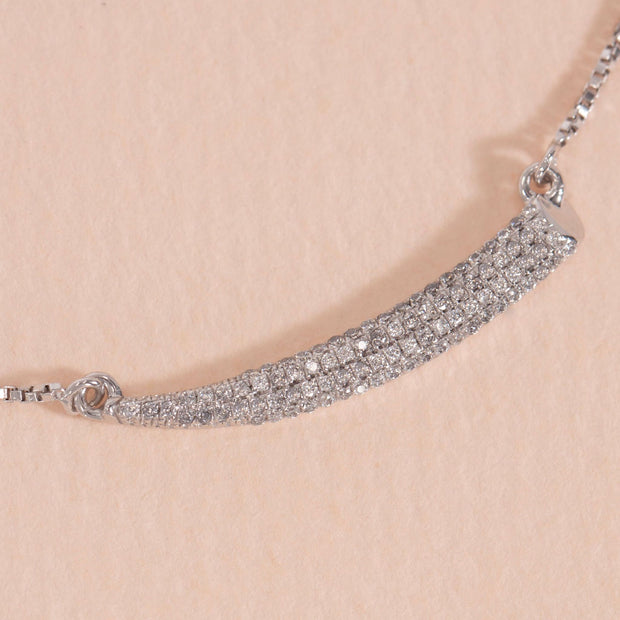 Tusk Sterling Silver and Diamond Necklace