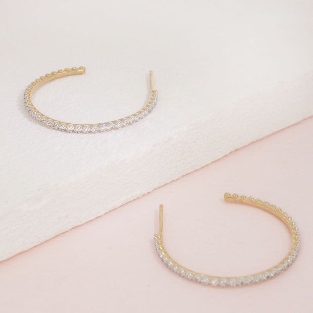 Under the Havana Sun Gold and Diamond Hoop Earrings