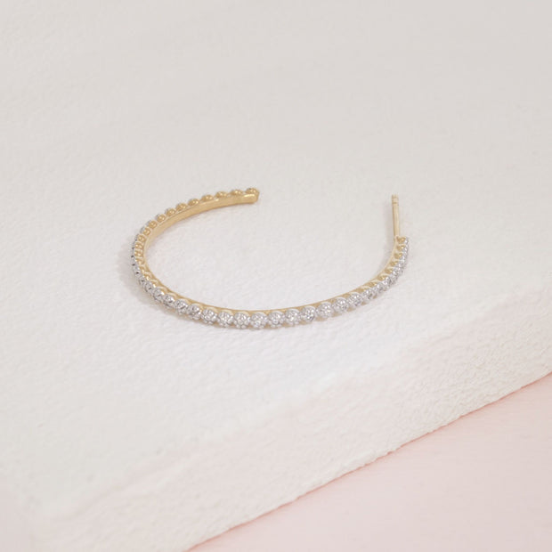 Under the Havana Sun Gold and Diamond Hoop Earring Detail