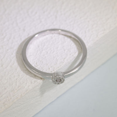 You Are My Balance Sterling Silver and Diamond Ring