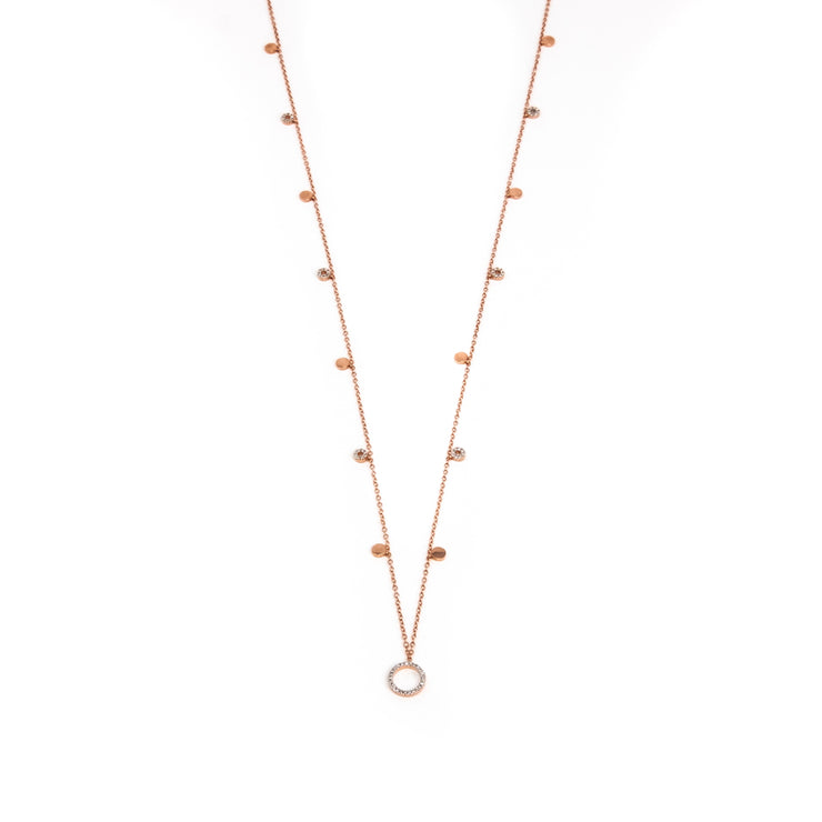 Center Of My World Necklace in Rose Gold