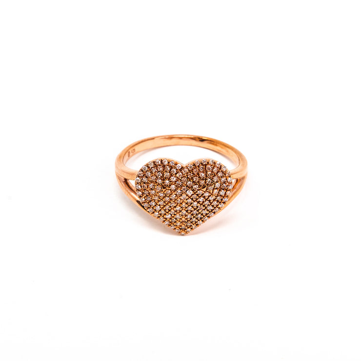 Devoted Heart Ring in Rose Gold