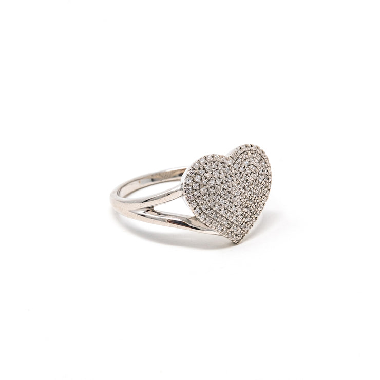 Devoted Heart Ring in Sterling Silver