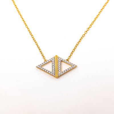 Studded Symmetry Necklace in Gold