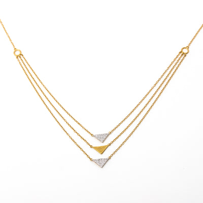 Shimmering Tiers Necklace in Gold