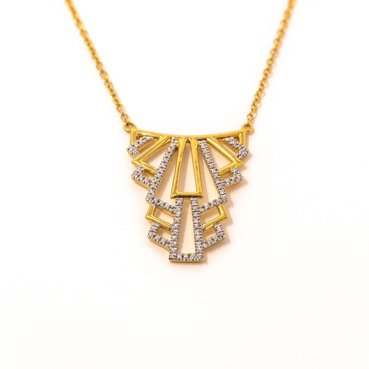 Living Luxe Necklace in Gold close up