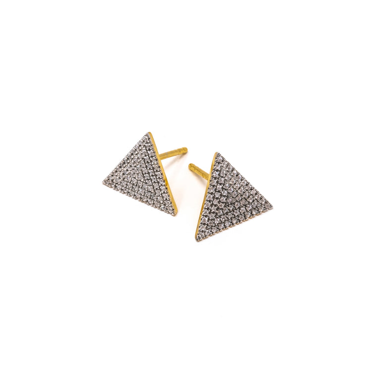 Love Triangle Earrings in Rose Gold