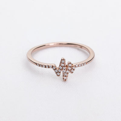 Heartbeat Ring in Rose Gold
