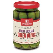 Whole Sicilian Green Olives 280g