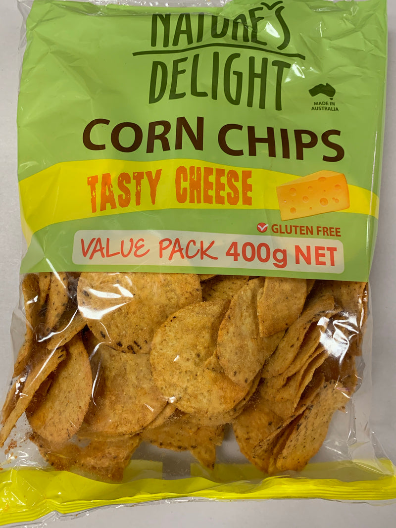 Nature's Delight - Corn Chips Tasty Cheese 400g