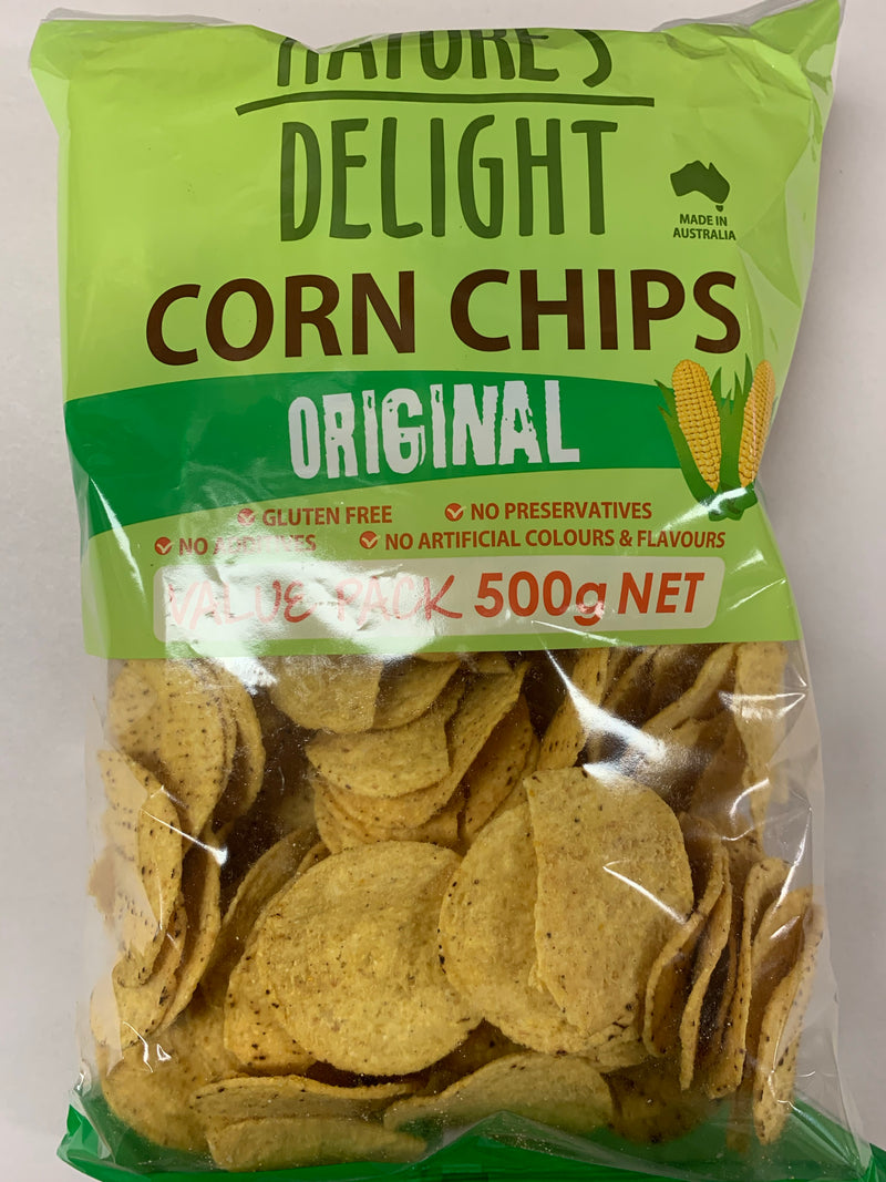 Nature's Delight - Corn Chips Original 500g