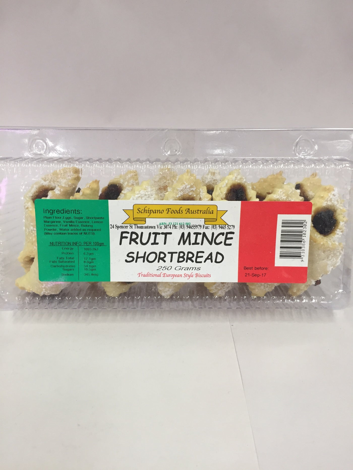 Shortbread - Fruit Mince