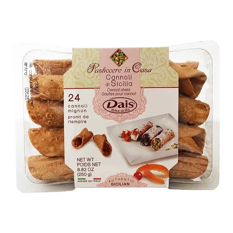 Dais Cannoli Shells 24 Pack