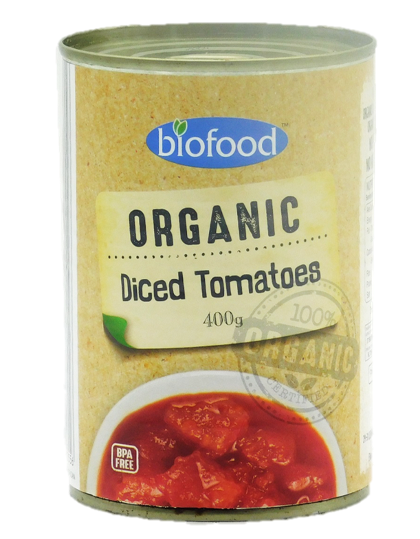 Bio Food Organic Diced Tomatoes 400g
