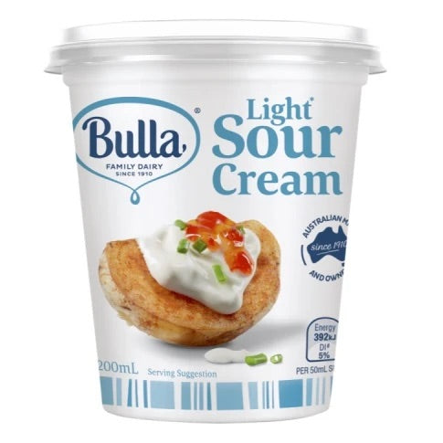 Bulla Light Sour Cream 200ml