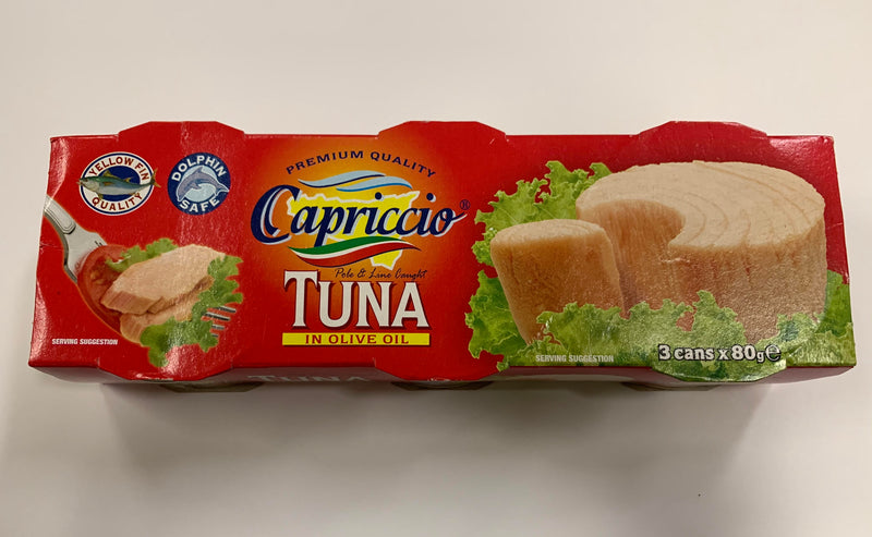 Capriccio Tuna in Olive Oil 3 Pack