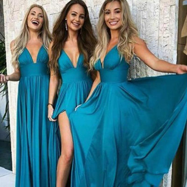 5323771439d 2019 Teal Long Cheap Mismatched Elegant New Fashion Bridesmaid Dress for  wedding guest