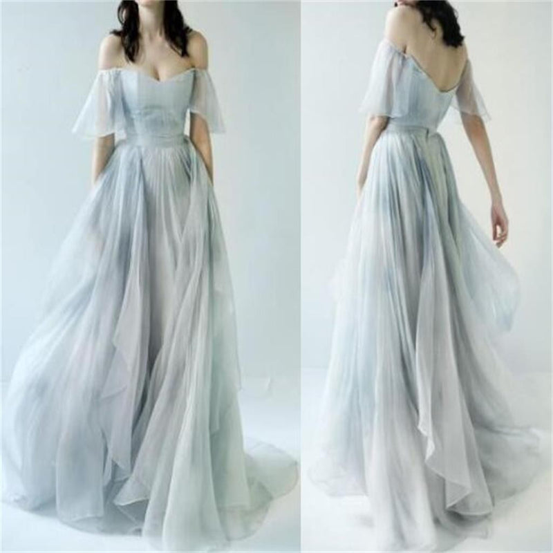 2018 Charming Off Shoulder Unique Design Most Popular Long Prom Dresses ,Bridal gowns ,PD0400