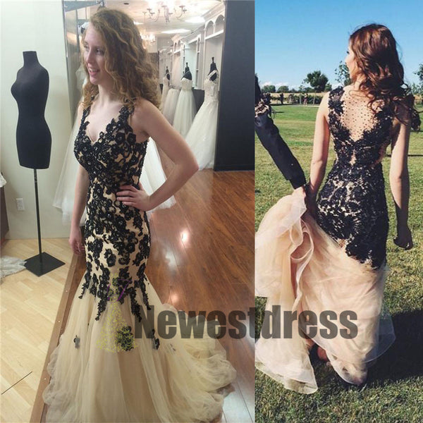 Lace V Neck Elegant Newest Unique Custom Charming Formal Prom Dresses,  Party dresses, PD0320
