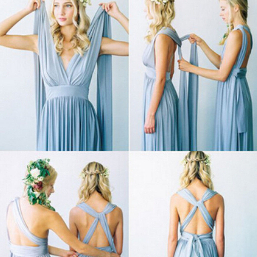 2017 convertible simple blue jersey high quality custom floor 2017 convertible simple blue jersey high quality custom floor length cheap bridesmaid dresses wg80 ombrellifo Image collections