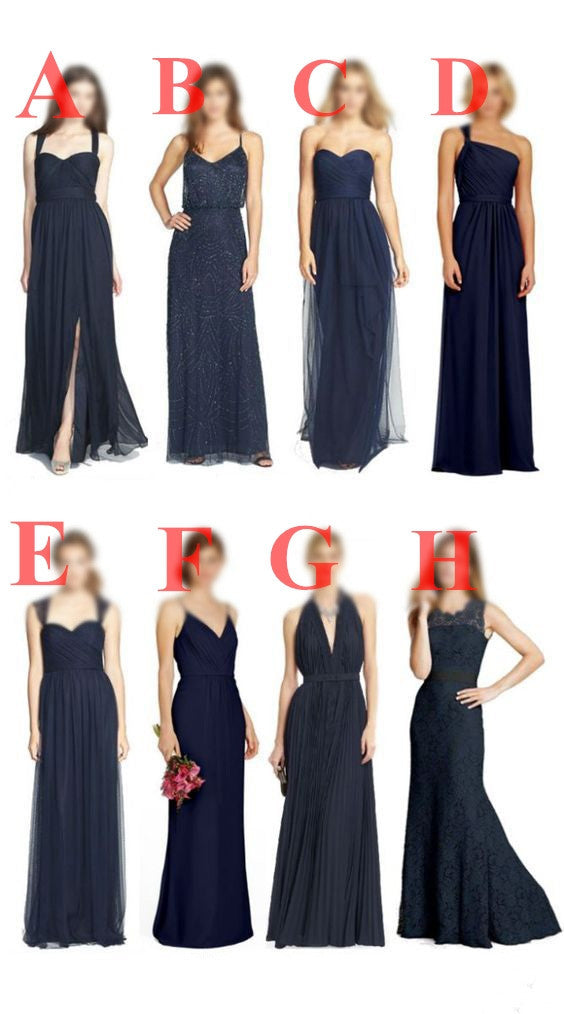 2018 Navy Different Style New Arrival Cheap Custom Most Popular Bridesmaid Dresses , PD0284