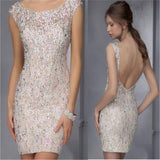 Backless Sparkle Charming Mermaid Sweet Party Cocktail Evening Short Prom Dresses Online,PD0179