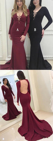 products/Cheap_Mermaid_V-Neck_Long_Sleeves_Burgundy_Black_Evening_Prom_Dresses_2.jpg