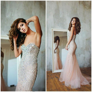 Long Mermaid New Arrival Sweetheart Tulle  Prom Dress ,Evening Dress , PD0290