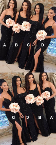 products/Modest_Mismatched_Sweetheart_Sweep_Train_Black_Lace_Bridesmaid_Dresses_with_split.jpg