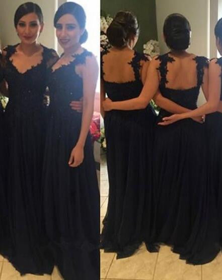 Royal Blue Tulle With Lace beading Side Slit Cheap Custom  Bridesmaid Dresses , PD0247