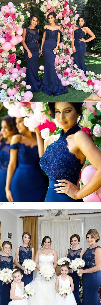 61d2c6e1fed 2019 Mismatched Sexy Different Mermaid Royal Blue Long Affordable  Bridesmaid Dresses
