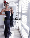 Spaghetti Straps Mermaid Black and White Sexy Simple Fashion Elegant Prom Dresses, Party Dresses, PD0307