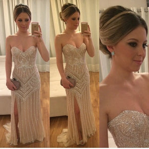 Sweetheart Sparkly Beading Gorgeous Long High Quality Pretty Charming Prom Dresses, Evening Dresses, Party dresses, PD0323