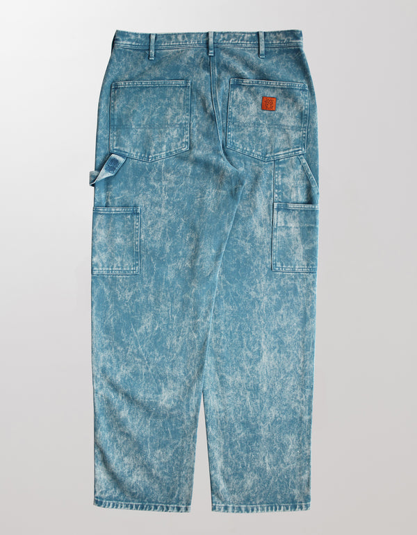 BLEACH WASHED DOUBLE KNEE WORK PANT
