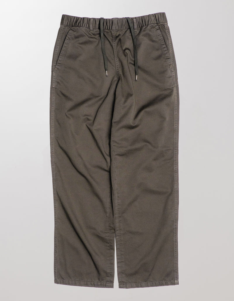 GARMENT DYED WIDE LEG TROUSERS