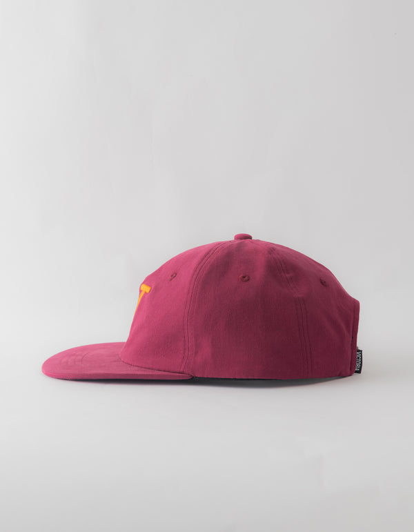 BRUSHED TWILL 'V' HAT